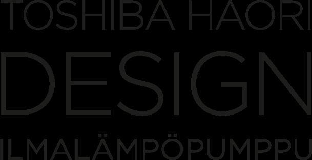 Toshiba Haori DESIGN -ilmalämpöpumppu